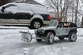 100 Rc Truck Snow Plow RC Jeep Wrangler Clears Walk Way