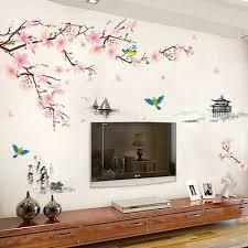 wandtattoo wandsticker wandaufkleber blumen blüten ast baum deko wohnzimmer neu ebay