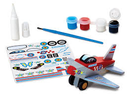 amazon com melissa u0026 doug decorate your own wooden plane craft