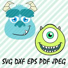 Sulley Monsters Inc Pumpkin Stencils by Monsters Inc Mike And Sully Svg Dxf Eps Pdf Vector Cut Files