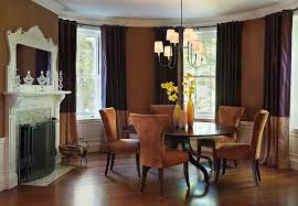 Eclectic Dining Room With Round