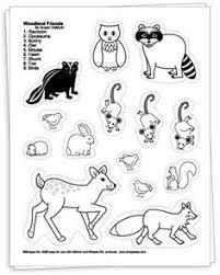 WoodlandanimalsprinableCOLOR Great Sights For Printables Preschool Forest AnimalsWoodland AnimalsPrimary