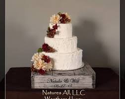 16 Rustic Wedding Cake Stand Personalized Option Weathered Ivory Cupcake