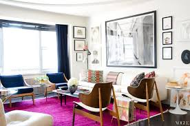 Small Apartment Decorating Ideas With White Sofa And Purple Carpet Dark Curtains
