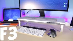 Imac Monitor Desk Mount by Satechi F3 Smart Monitor Stand Review Youtube
