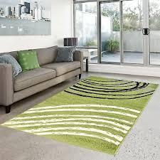 teppich flachflor modern moda wohnzimmer bogen muster grün schwarz creme sale