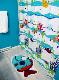 Nemo Bathroom Set Cute Kids Bathroom Design With Sea Themed Shower