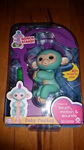 Fingerlings Baby Monkey Zoe Turquoise Includes Bonus Stand