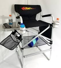 TuscanyPro --Hot Rod Edition--Tall Heavy Duty Director Chair --Side  Tray-29