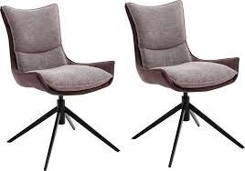 mca furniture 4 fußstuhl kitami esszimmerstuhl drehbar 360 mit nivellierung stoffbezug belastbar bis 120 kg kaufen otto