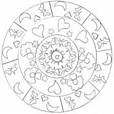 Coloring Page Adult Hearts Mandala Free To Print