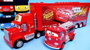 100 Cars Mack Truck Playset Disney Lightning McQueen Red Deluxe Tayo