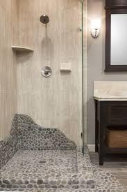 glass accent tile in shower bathroom floor border ideas backsplash