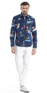 santa navy men long sleeve shirt