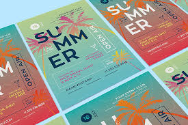 Free Summer Poster Design Template Preview