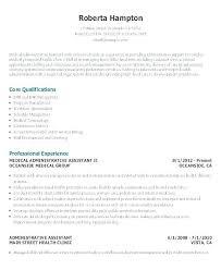 Administrative Clerical Resume Samples Sample