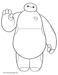 Baymax Is A Cute Character From Disney Big Hero 6 Movie How About To Print