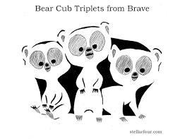 Minnie Mouse Pumpkin Designs by Stellar Four Pumpkin Carving Pattern The Bear Cub Triplets From