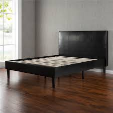 King Platform Bed With Leather Headboard by Amazon Com Zinus Sleep Master Memory Foam 12 Inch Mattress And
