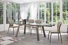 contemporary dining table glass tempered glass rectangular