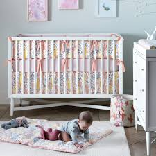 Bratt Decor Crib Skirt by Dwellstudio Mid Century Crib In French White