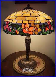 Duffner And Kimberly Lamp Base by Duffner Slag Glass Lamp