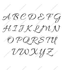 Connected Cursive Uppercase Lowercase Letter Stencils AZ 14 To