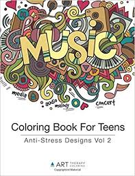 Amazon Coloring Book For Teens Anti Stress Designs Vol 2 Volume 9781944427177 Art Therapy Books