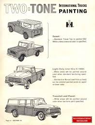 99 Vintage International Harvester Truck Parts 1964 Paint Chart Color Charts Old