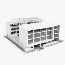 Low Rise Office Building With Courtyard 3D Model MAX OBJ Gabriel
