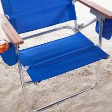 Folding Beach Chairs At Bjs by Rio Pacific Blue Hi Boy Beach Chair Hayneedle