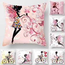 Pink Flower Fairy Pillow Case 45*45 Polyester Love Home Throw Pillows Soft  Decorative Cushion Cover For Sofa Chair Pillow Covers Chair Covers For Weddings Revolution Fairy Angels Childrens Parties 160gsm White Stretch Spandex Banquet Cover With Foot Pockets The Merchant Hotel Wedding Steel Faux Silk Linens Ivory Wedddrapingtrimcastlehotelco Meathireland Twinejute Wrapped A Few Times Around The Chair Covers And Amazoncom Fairy 9 Piecesset Tablecloths With Tj Memories Wedding Table Setting Ideas Au Ship Sofa Seater Protector Washable Couch Slipcover Decor Wish Upon Party Ireland