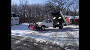 100 Plow Trucks For Sale In Michigan 2000 D F550 73L 62k AND Dump Truck Western 12 Ft Box YouTube