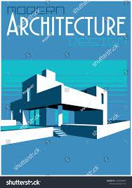 100 Modern Architecture Magazine Design Cover Stylization Stock