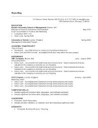 Cover Letter Resume Examples For College Student Internship