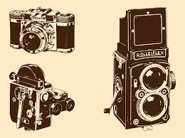 Retro Cameras Set Vector Art Graphics