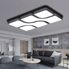 etime 65x43cm design led deckenle deckenleuchte wohnzimmer le schlafzimmer küche leuchte 6000k schwarz rechteck 64x43cm 45w kaltweiß