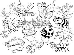 Detailed Coloring Page Bugs In Our Garden