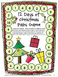 Christmas Math Board Game From Games First Grade By 4 Learning
