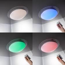 led deckenleuchte farbwechsel 16 farben mit fernbedienung schlafzimmer le