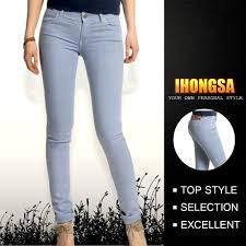 Ladies Fashion Trousers Design Low Rise Latest Jeans Tops Girls D Hgs141