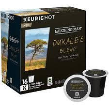 Laughing Man Keurig Hot Dukales Blend Medium Roast Coffee K Cup Pods 45