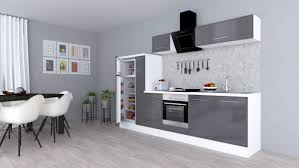 respekta premium einbau küche küchenzeile 300 cm eiche grau