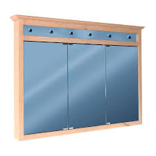 shop woodgate 48 in x 34 in surface medicine cabinet with lights