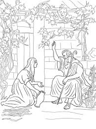 Click To See Printable Version Of Elijah And The Widow Zarephath Coloring Page