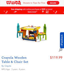 Crayola Wooden Table And Chair Set by 161 Best A U0026 A Christmas 2017 Wish List Images On Pinterest