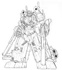 Coloriage Robot Transformers Imprimer Simple Transformer En