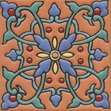 mexican tiles high relief ceramic cuerda seca malibu