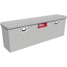 100 Diamond Plate Truck Box 445in Aluminum Storage Container With Lock Www