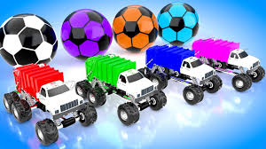 Colors For Babies With MONSTER GARBAGE TRUCK PARKING Soccer Balls ...